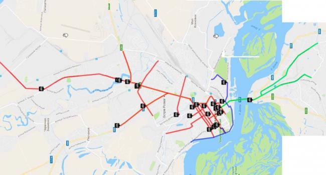 В Кременчуге появилась карта сети городских велодорожек