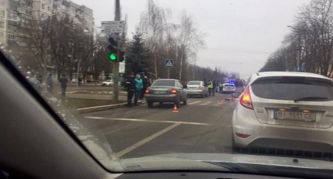 На ул. Вадима Бойко Suzuki сбил нетрезвого пешехода