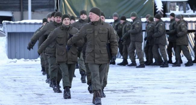 Кременчугские гвардейцы ушли на фронт
