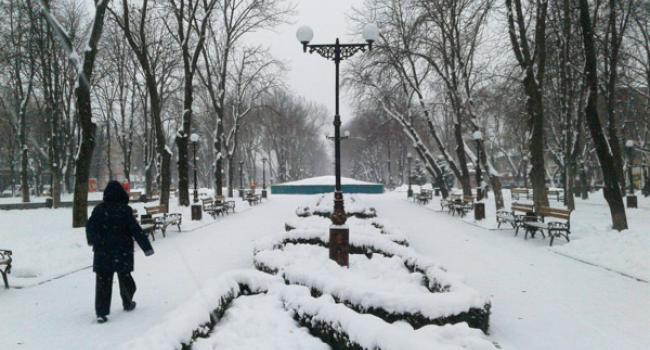 Второй большой снег в Кременчуге