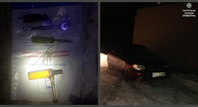 Патрульные Кременчуга задержали вероятных взломщиков автомобиля