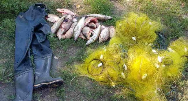 На місці вилучили човен, риболовецькі сітки, костюми та свіжовиловлену рибу.