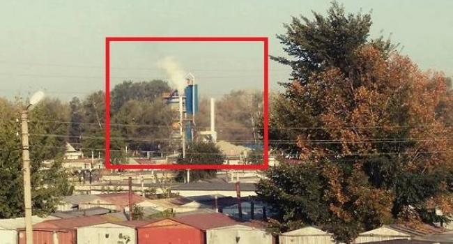 Фотофакт: як чадить Кременчуцький асфальтний завод