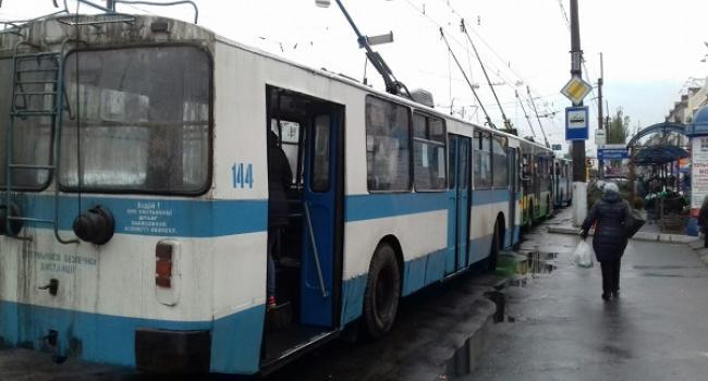 В Кременчуці зупинились тролейбуси