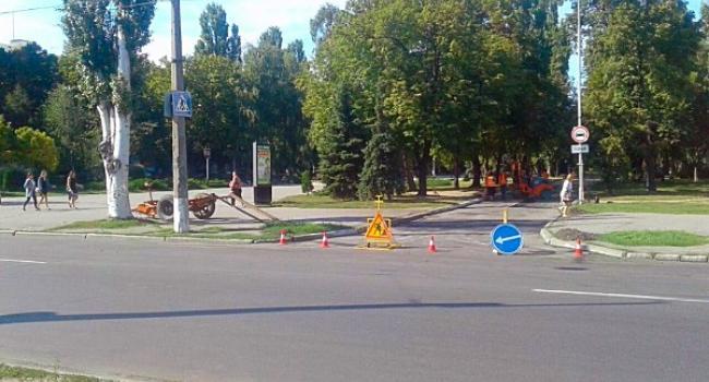 В центре Кременчуга закрыли проезд – ремонтируют дорогу