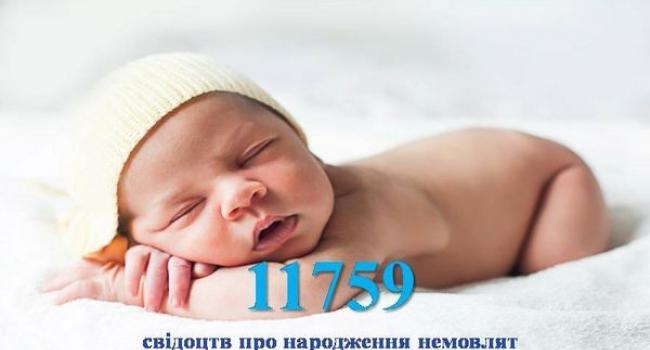 В пологових будинках Полтавщини видано понад 11 тисяч свідоцтв про народження немовлят