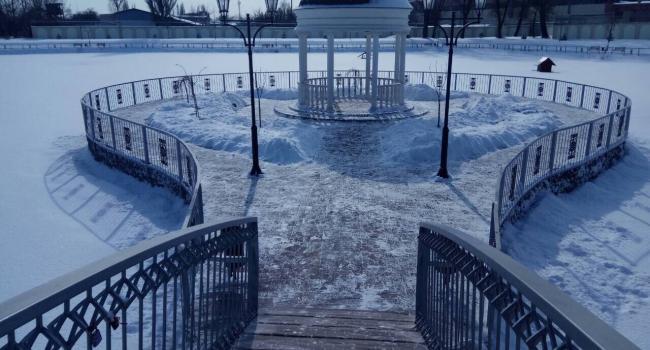 Как Городской сад Кременчуга покоряет своей зимней красотой