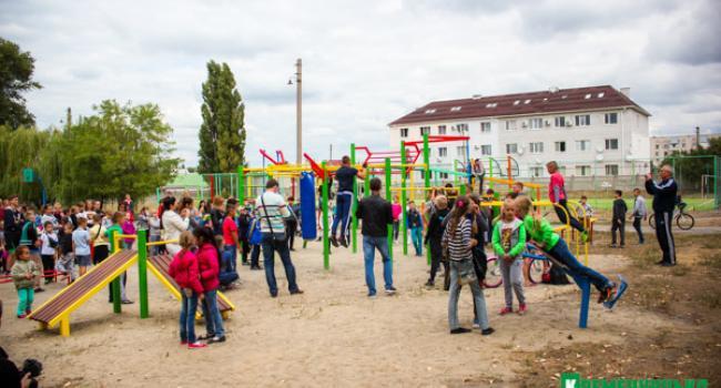 «Общественный бюджет Кременчука» в действии: Первая Занасыпь пополнилась новой спортплощадкой
