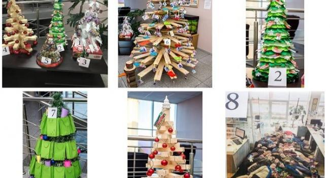Кременчуцькі ялинки з дощечок, пакетів і людо-ялинка: на «Лукасі» новорічні змагання