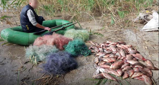 Рибоохоронний патруль Кременчука зловив браконьєра з 66,5 кг риби