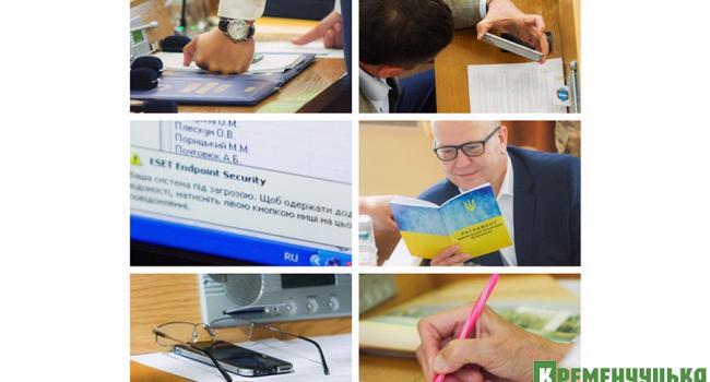 Что лежит на рабочих столах у депутатов Кременчугского горсовета