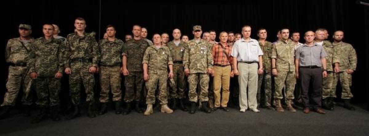 В Кременчуге наградили демобилизованых АТОшников