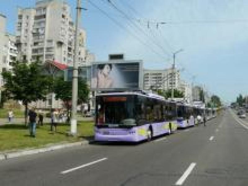 В понедельник не будут ездить троллейбусы № 1, 2, 5