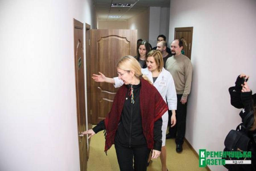 Министр охраны здоровья Ульяна Супрун почти инкогнито посетила Кременчуг